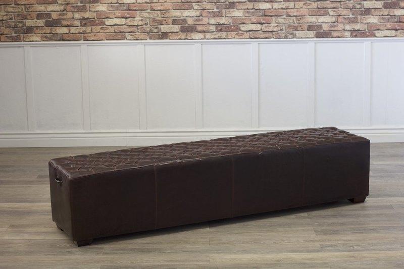 Hemingway Leather Bench