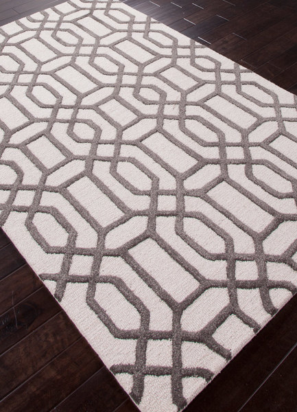Modern Geometry Rug - Antique White & Licorice