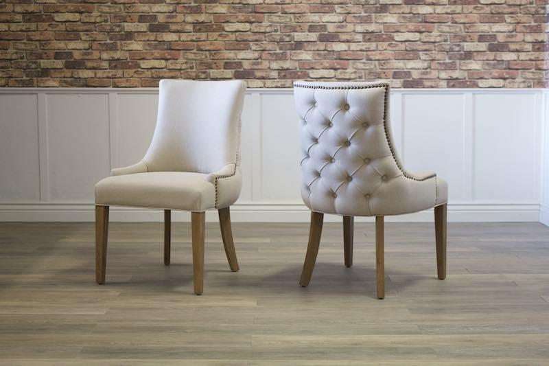 Allison Tufted Back Linen Dining Chair