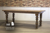 "Annli Turned Leg Cottage Dining Table, 6' L x 37"" W in Harvest Wheat finish."
