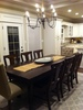 Grace Wood Dining Chairs in Kona Stain paired with a Farmhouse Table.