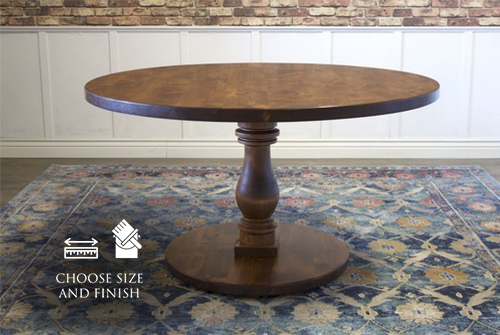 """54"""" Vivien Round Pedestal Table in Tuscany Finish."""