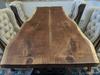 #01 Black Walnut Live Edge Slab Table.