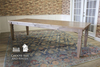 """9' L x 37"""" W x 30"""" H Charlotte Turned Leg Dining Table in Barn Wood Finish."""