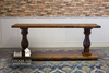 6' L Vivien Turned Pedestal Console Table in Tuscany Finish.