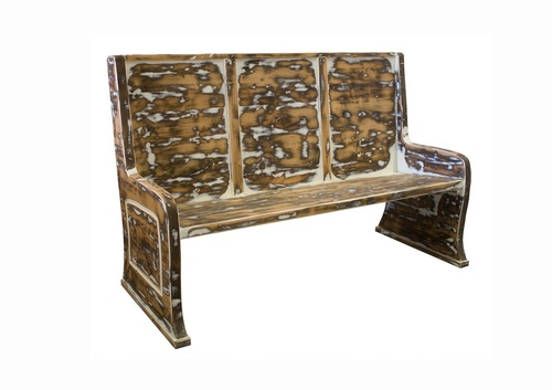 Astonishing Rustic Distressed Parish Pew Bench Andrewgaddart Wooden Chair Designs For Living Room Andrewgaddartcom