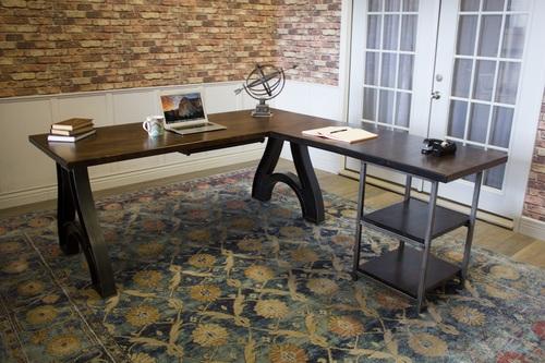Industrial Wishbone Corner L Shaped Desk James James