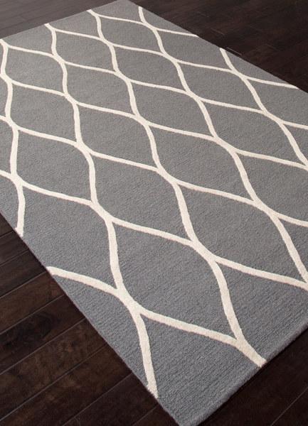 Charcoal & Cream Wool Rug
