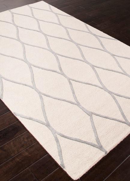 Cream & Charcoal Wool Rug