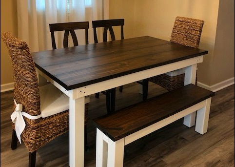 Fabulous Solid Wood Farm Table Pine Camellatalisay Diy Chair Ideas Camellatalisaycom