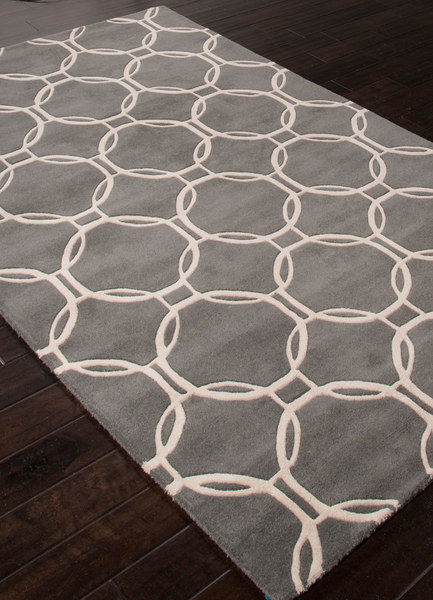 Smoke & Cream Wool Rug