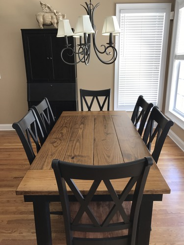 Solid Wood Farm Table - Pine