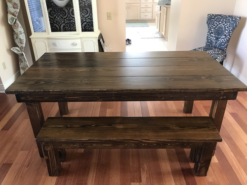 solid wood farm table james james furniture springdale arkansas. Black Bedroom Furniture Sets. Home Design Ideas