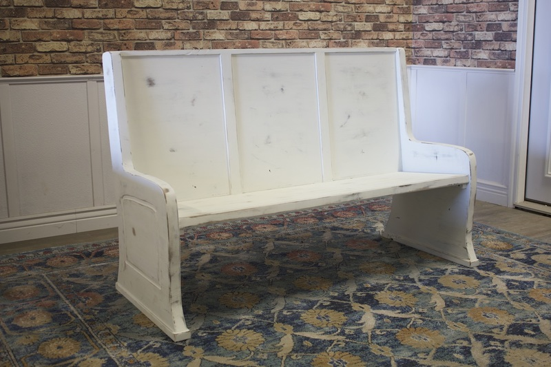 Chalk Painted Parish Pew Bench at 5' L.
