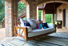 Avery Wood Porch Swing Bed Daybed in Tuscany Finish, Twin Size.	Pictured with our Sketched Indoor/Outdoor Rug.