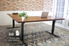 Sit to Stand Power Adjustable Corner L-Shaped Desk with Tuscany Finish