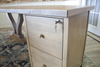 "Vera Corner Desk with Filing Cabinet 66"" x 30"" Main Desk and a 44"" x 24"" Right Hand Return in Barn Wood Finish"