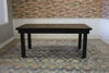 Farmhouse Table - Hardwood in Charred Ember Finish with Jointed Top and Charred Ember Finish base.