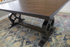 Expandable Grand Carved Pedestal Table in Tobacco Finish