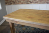 Farmhouse Table - Hardwood in Harvest Wheat Finish with Jointed Top and Open Knots