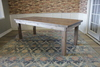 Farmhouse Table - Hardwood in Barn Wood Finish with Boarded Look / Grooved top