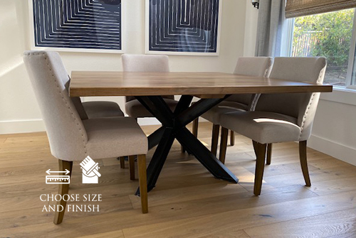 """60"""" Square Shiloh Steel Industrial Welded Pedestal Table in Harvest Wheat Finish."""