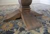Oval Heirloom Pedestal Table base in Barn Wood Finish.