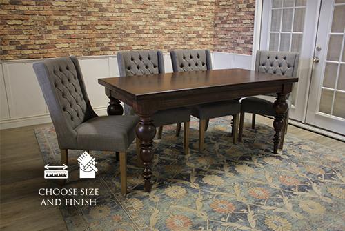 """66"""" L x 32"""" W Bailey White Oak Hardwood Table in Kona Finish"""