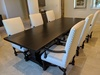 "10' x 45"" Heirloom Pedestal Table in Custom Espresso Finish"
