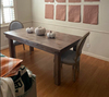 """6' L x 36"""" W x 30"""" H Farmhouse Table - Hardwood, Jointed Top in Barn Wood Finish with Filled Top Knots."""
