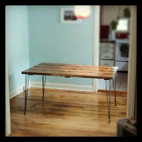 6' Contemporary Table in Early American stain.