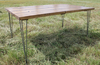 6 ft long Contemporary Table in Early American stain.