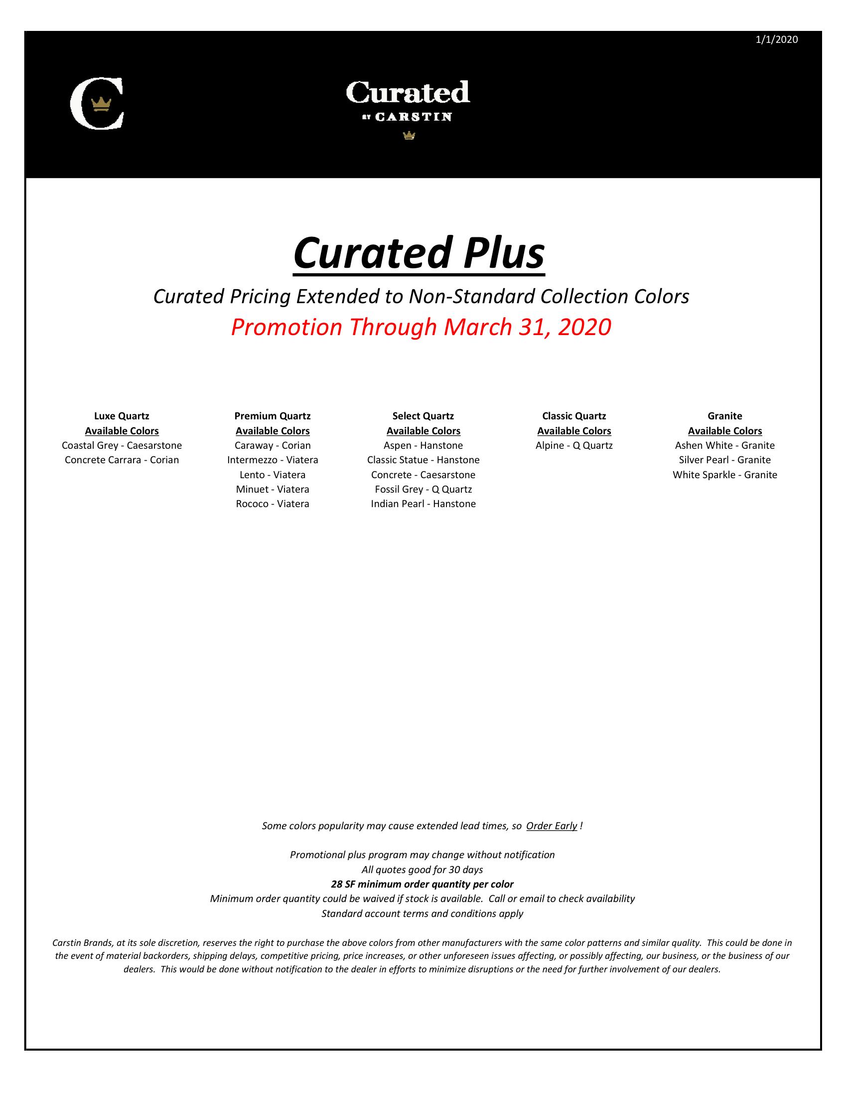 Carstin Plus marketing flyer