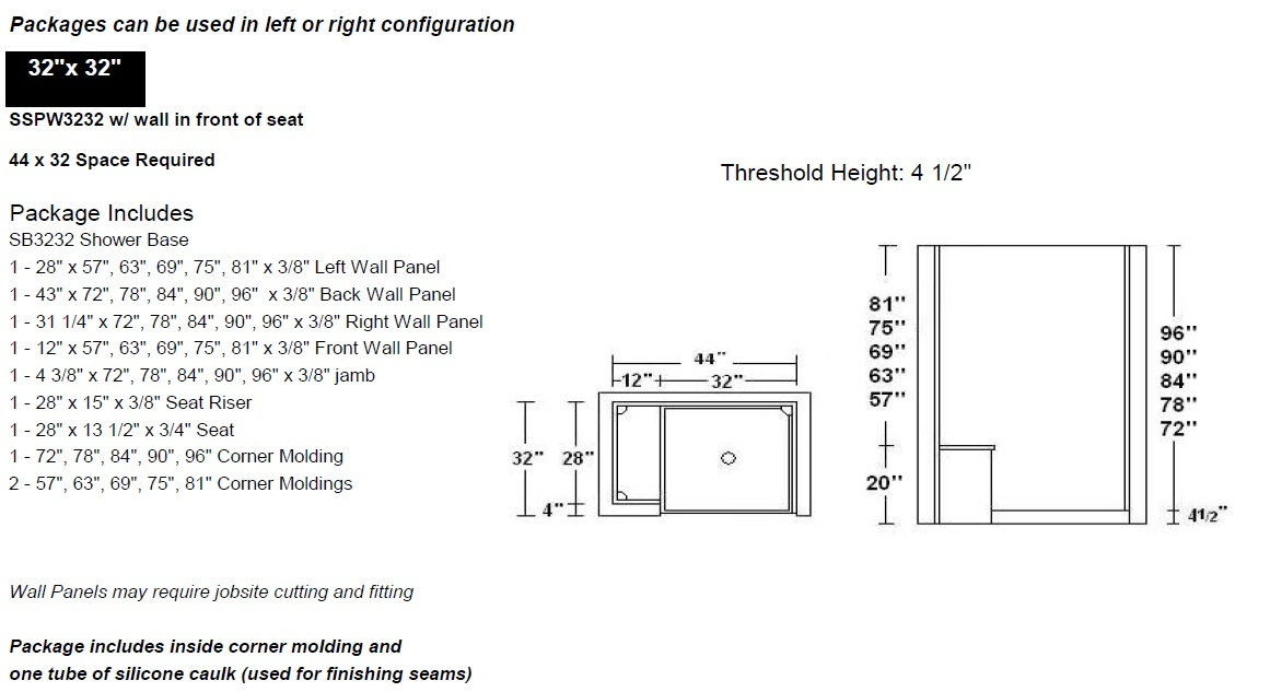 smooth wall shower diagram