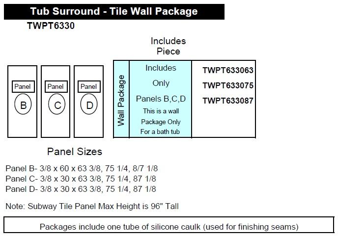 smooth wall tub diagram