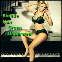 Blonde Hair, Green Underwear