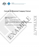 ASIC Historical Company Extract