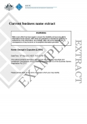 ASIC Current Business Name Extract
