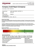 Credit Report - Company