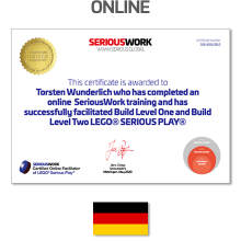 Online LEGO® Serious Play® Facilitator Training DE - Pay Full Fee + Books Download & LEGO Bricks