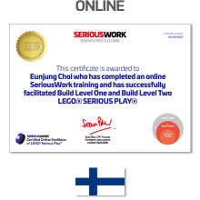 Online LEGO® Serious Play® Facilitator Training FI - Full Fee + Books Download & LEGO Bricks