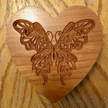 Butterfly on Heart Box