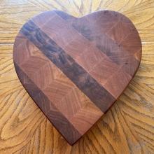 End Grain Cutting Board - Heart