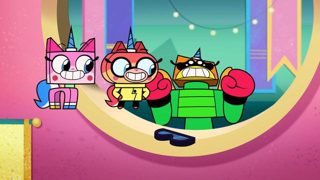 Unikitty's Friends Think Happy Thoughts