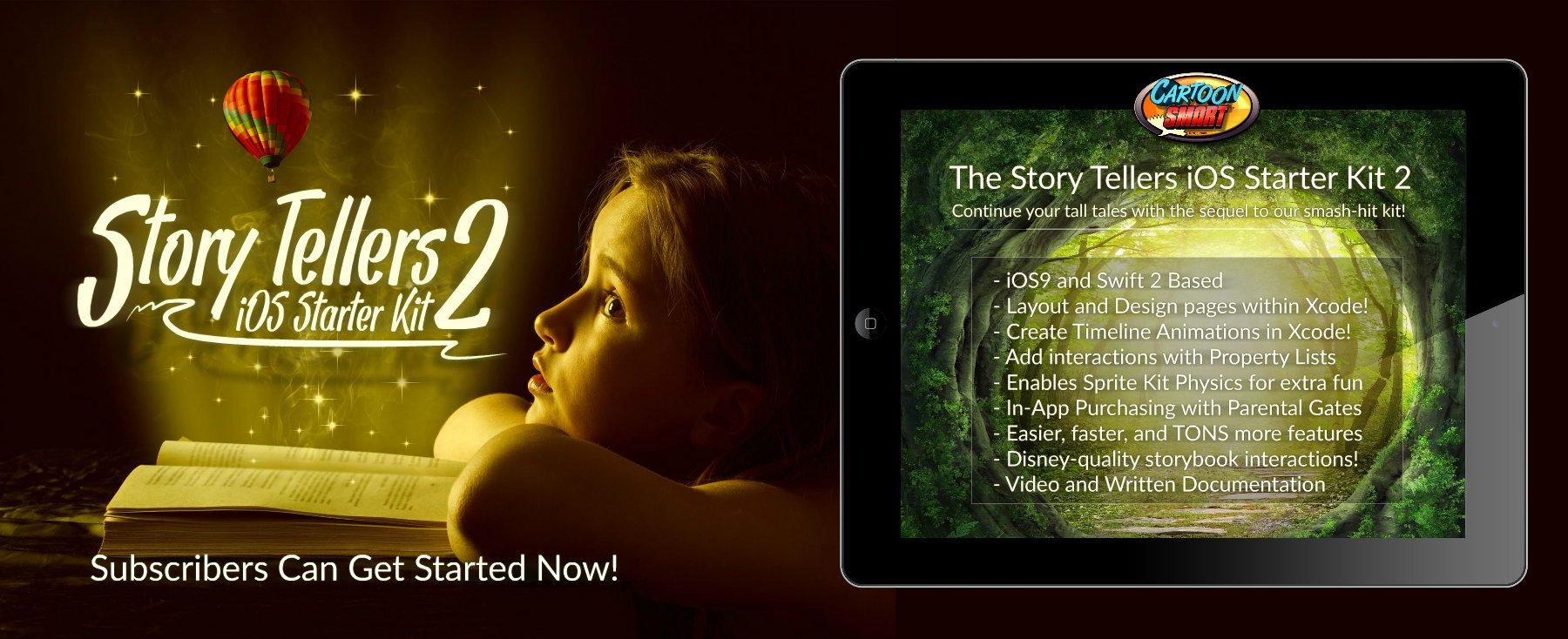 iOS9 Starter Kit StoryBook App Frontpage