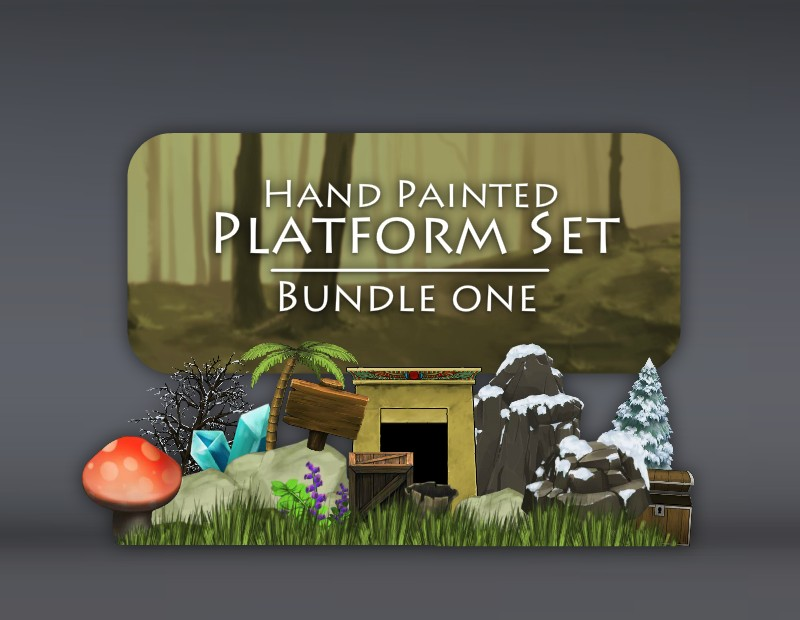 Hand Painted Platform Bundle of Game Art