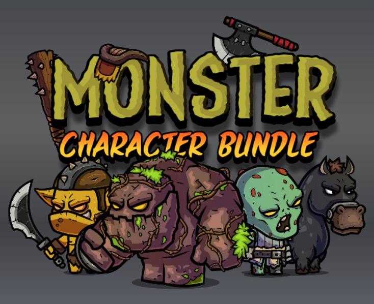 Monster Character Bundle Royalty Free Game Art
