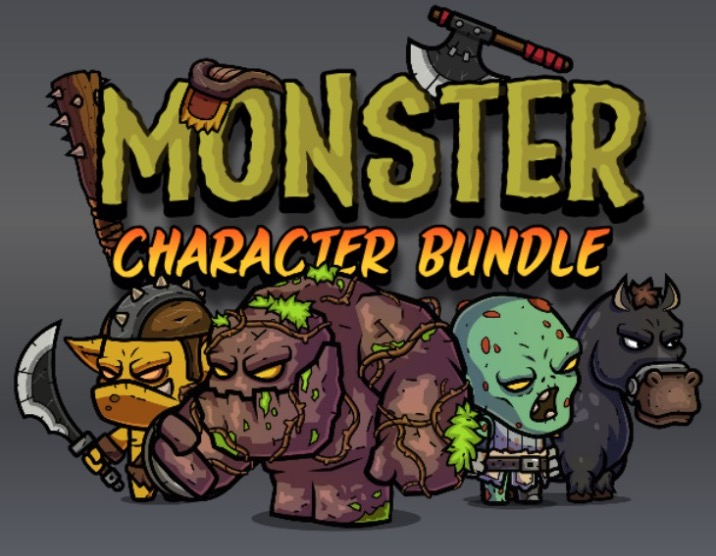 Monster Character Bundle Royalty Free Game Art