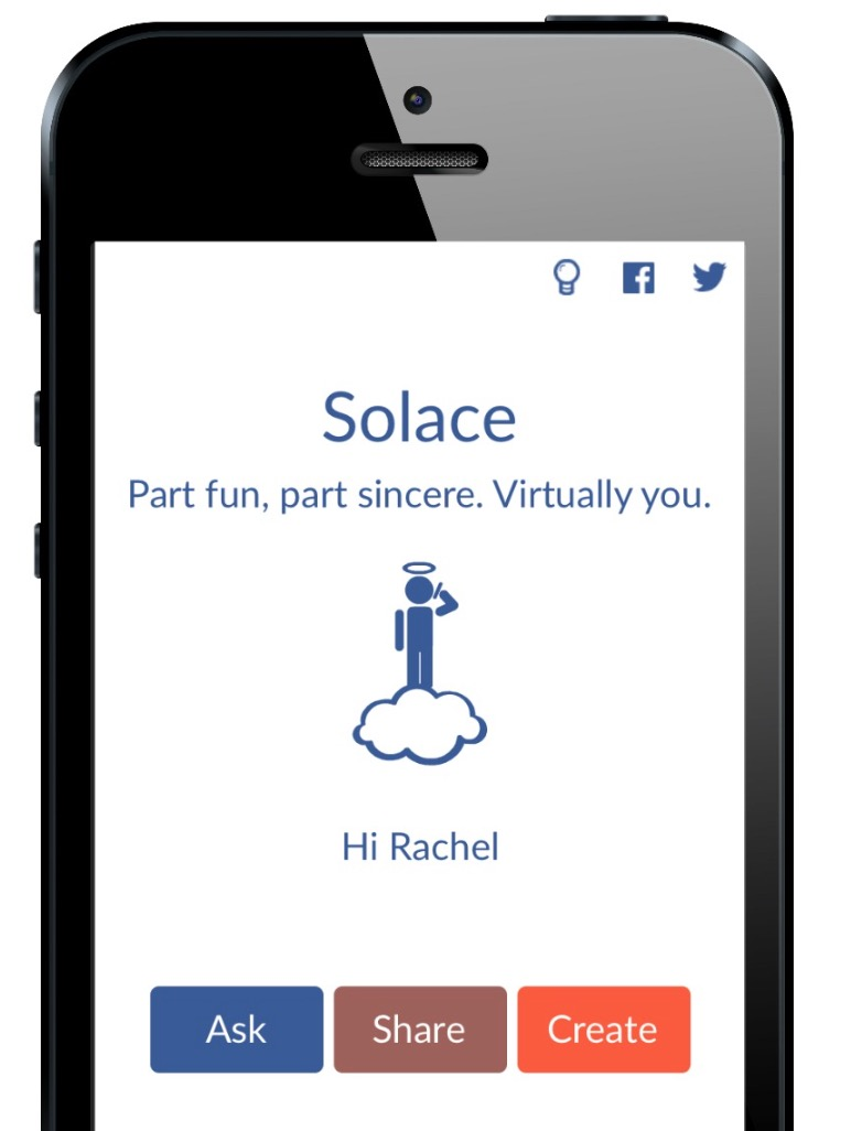 Solace app - create a virtual you