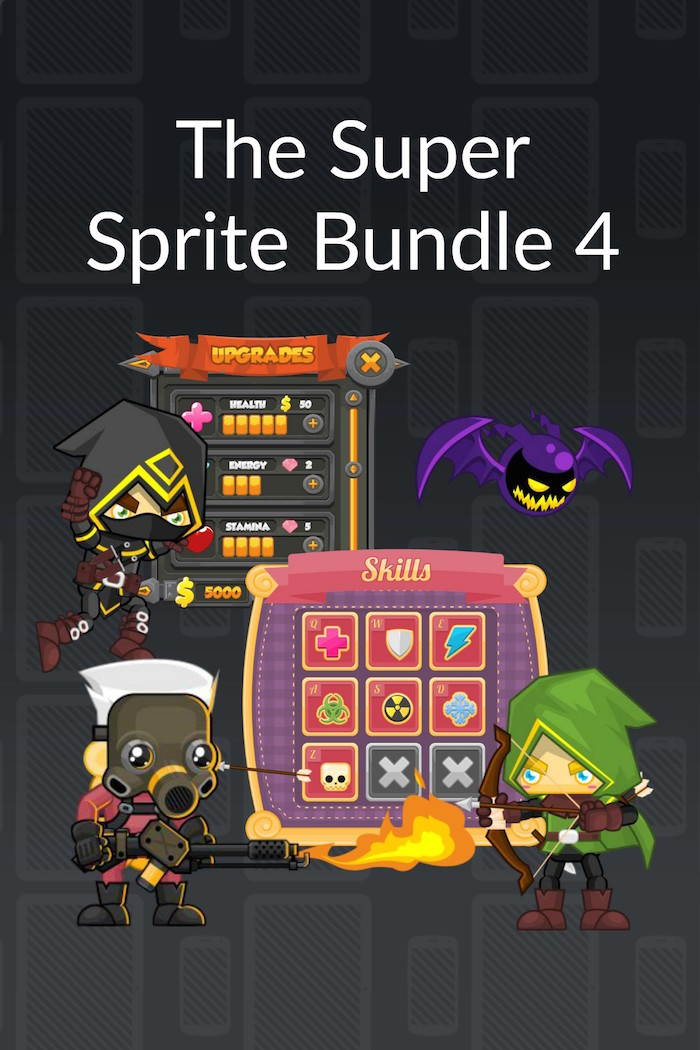 The Super Sprite Bundle 4 - Royalty Free Game Art and Sprites